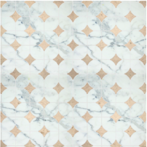 2 color pattern – calacata and golden beach