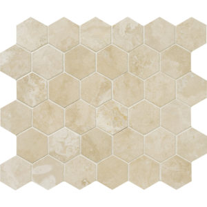 Ivory Honed&Filled Hex Mosaic