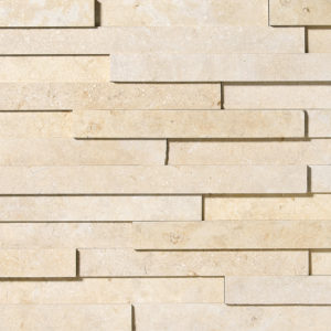 Seashell Honed Limestone Wall Decos Elevation Pattern