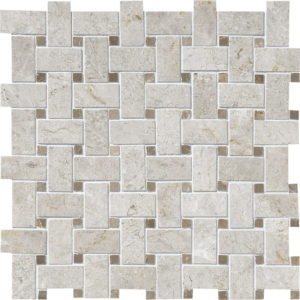Silver Shadow Polished Basket Weave Mosaic