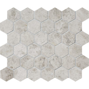 Silver Shadow Polished Hex Mosaic