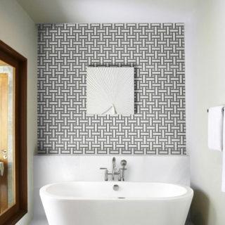 Aspen White Marble Tile Mosaic