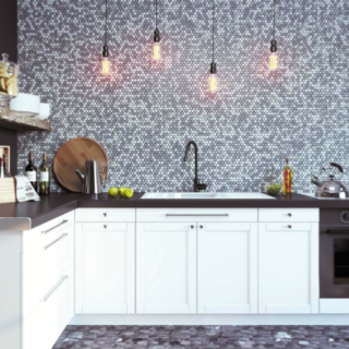 Bardiglio Marble Tile Mosaics
