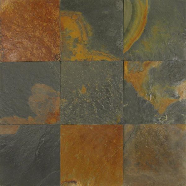 Charcoal Multicolor Slate Tile