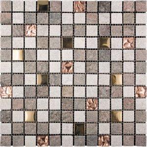 copper canyon metallico metal mosaic intrepid marble and granite