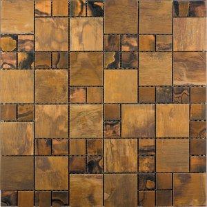 copper valley metallico metal mosaic intrepid marble and granite