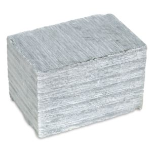 A close up cube of soapstone