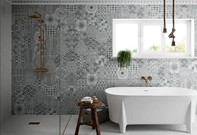 Movement Hexagon Deco Grey
